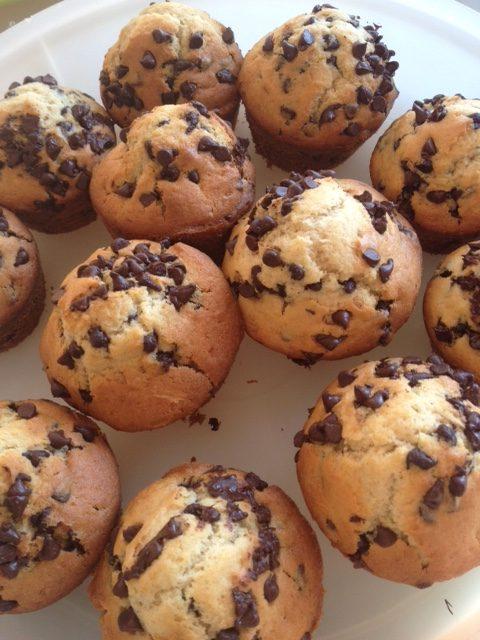muffin aux pepites de chocolat