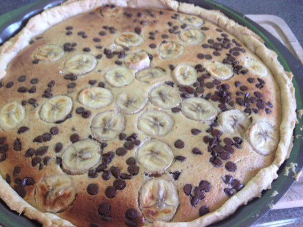 Tarte banane Chocolat Label Rousse